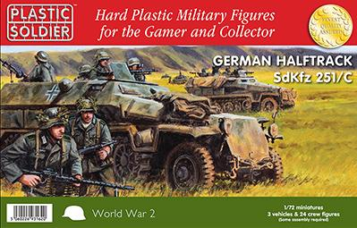 20mm WWII (German):  1/72nd Easy Assembly German Sdkfz 251 Ausf C Half track