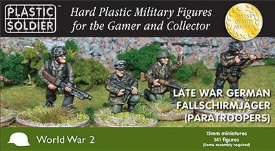 15mm WWII - German:  Late War German Falschirmjaeger