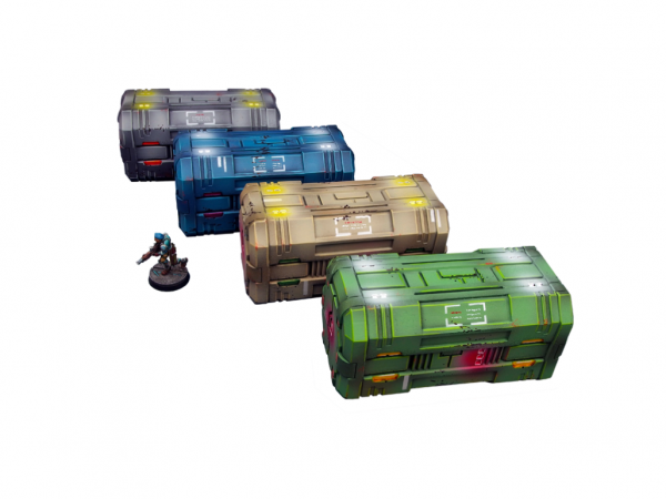 Infinity Sci-fi Terrain: Tech Containers (4)