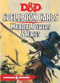 Dungeons & Dragons Next RPG: Martial Powers & Races Spellbook Deck (40 cards)