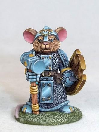 Mouse Cleric w/Warhammer & Shield