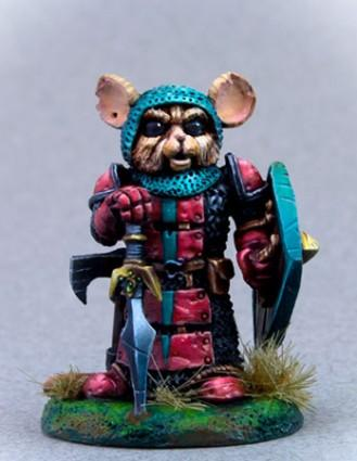 Mouse Warrior w/Sword & Shield