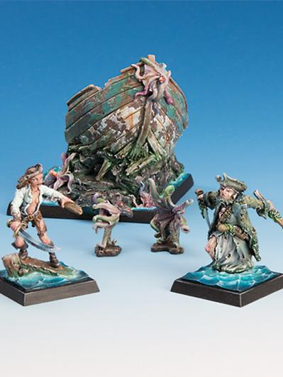 Freebooter Miniatures: Attack of the Zombie Octopuses Set [Limited]