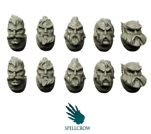 28mm Fantasy - Space Knights: Space Knights Wolves Heads