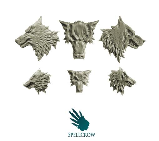 28mm Sci-Fi -  Space Knights: Wolves Heads Icons