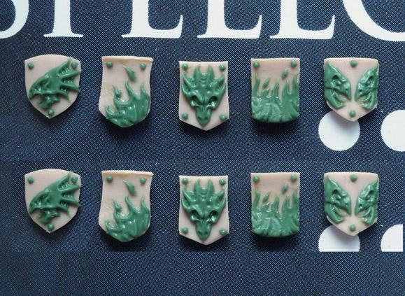 28mm Sci-Fi -  Salamanders / Dragons : Small Shields