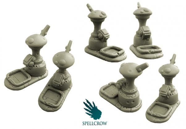 28mm Sci-Fi -  The Young Race Objective Counters