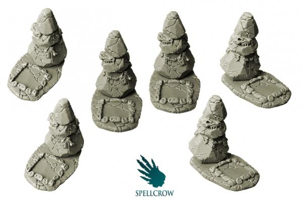 28mm Sci-Fi -  Feral/Wolves Objective Counters