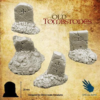 28mm Fantasy Miniatures: Old Tombstones