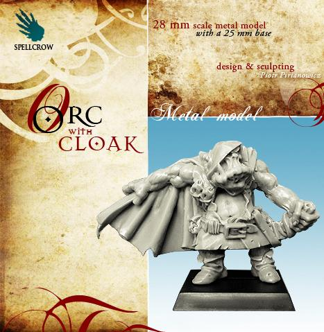 28mm Fantasy Miniatures: Orc with Cloak