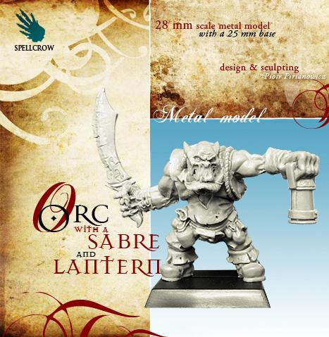28mm Fantasy Miniatures: Orc with Sabre and Lantern