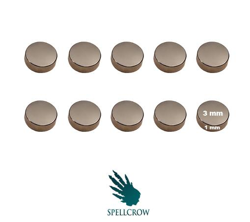 Miniatures Accessories: Neodymium Magnets 3 mm x 1 mm