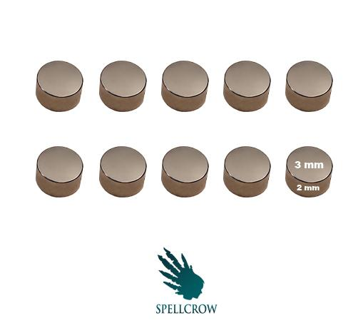 Miniatures Accessories: Neodymium Magnets 3 mm x 2 mm