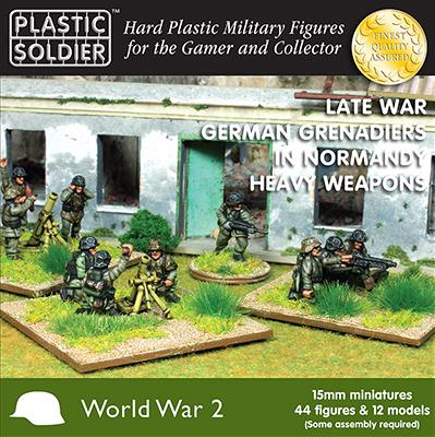 15mm WWII: (German) Grenadiers In Normandy Heavy Weapons