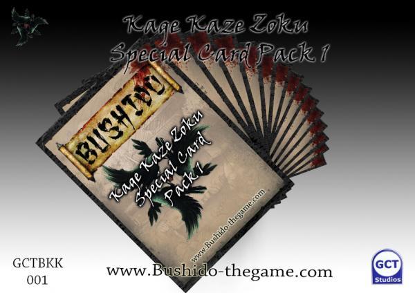 Bushido Miniatures: (Kage Kaze Zoku) Special Card Pack 1