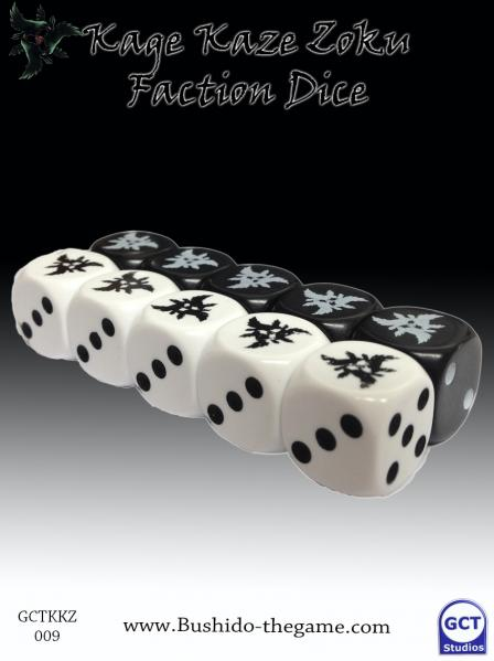 Bushido Miniatures: (Kage Kaze Zoku)Faction Dice