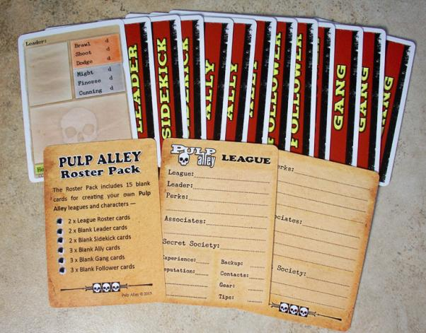 Pulp Alley Miniature Game: Roster Pack - Blank Character Cards