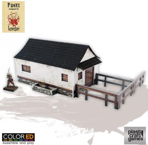 28mm Kensei Terrain: Horse Stable (Color ED)