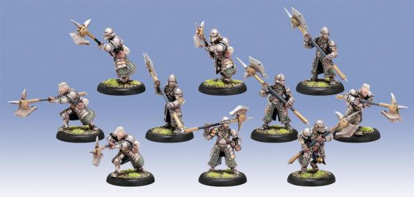 Warmachine: (Mercenaries) Steelhead Halberdiers/Riflemen Unit (10) (plastic)