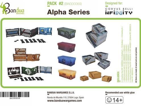 Sc-fi Terrain: Alpha Series Pack [Infinity]