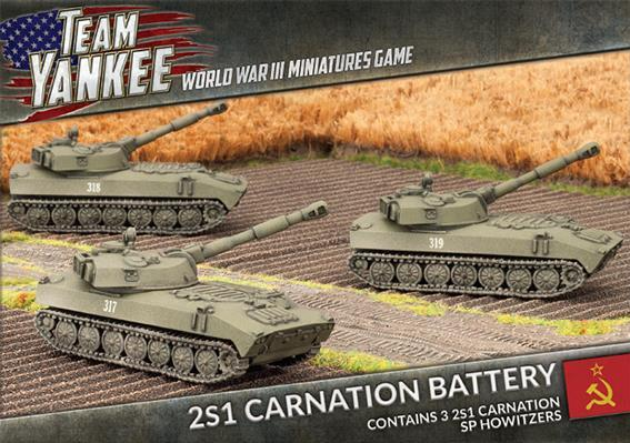 Flames Of War (Team Yankee): (Soviet) 2S1 Carnation Battery