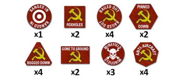 Flames Of War (Team Yankee): Soviet Token Set