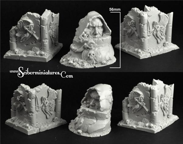 Conversion Parts: Angels Temple Ruins Terrain #2 (3) NEW VERSION