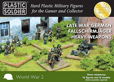 15mm WWII: (German) Falschirmjaeger Heavy Weapons
