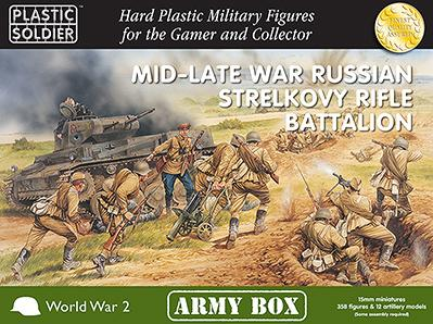 15mm WWII: (Soviet) Mid/Late War Russian Strelkovy Rifle Battalion