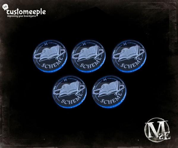 Malifaux: Arcanists Scheme Marker (Fluorescent Blue)