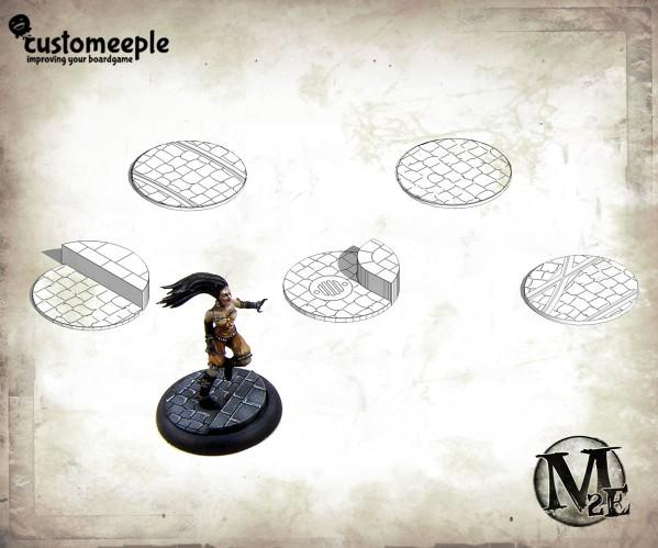 Malifaux: 50mm Streets Base Tops (2 base tops)
