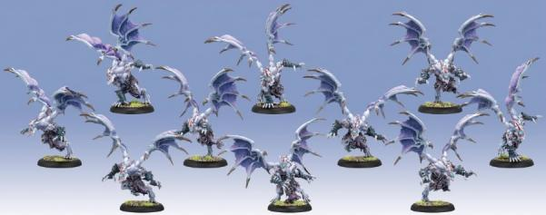 Hordes: (Legion Of Everblight) Grotesque Raiders/Banshees, Blighted Nyss Unit (10) (plastic)