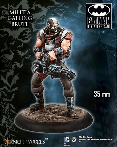 Batman Miniature Game: Militia Gatling Brute