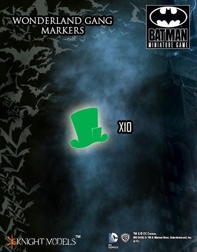 Batman Miniature Game: Wonderland Gang Markers (10)