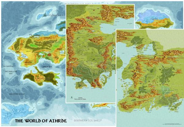 Castles & Crusades RPG: Aihrde World Maps