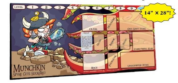 Munchkin: Spyke Gets Suckered Playmat