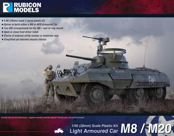28mm WWII: (USA) M8/M20 Armoured Car