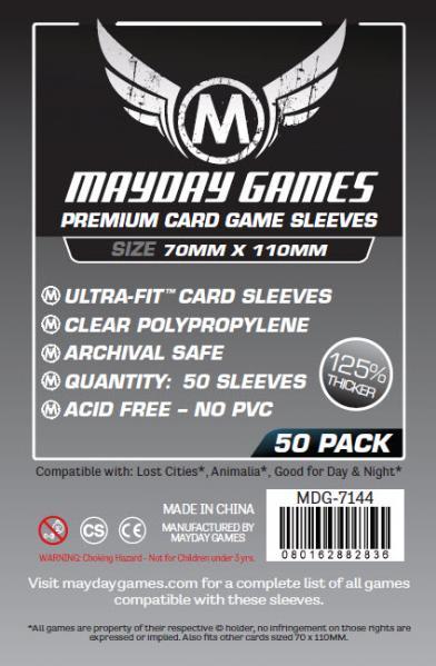 Premium Custom Card Sleeves: 70x110mm ''Lost Cities'' Game