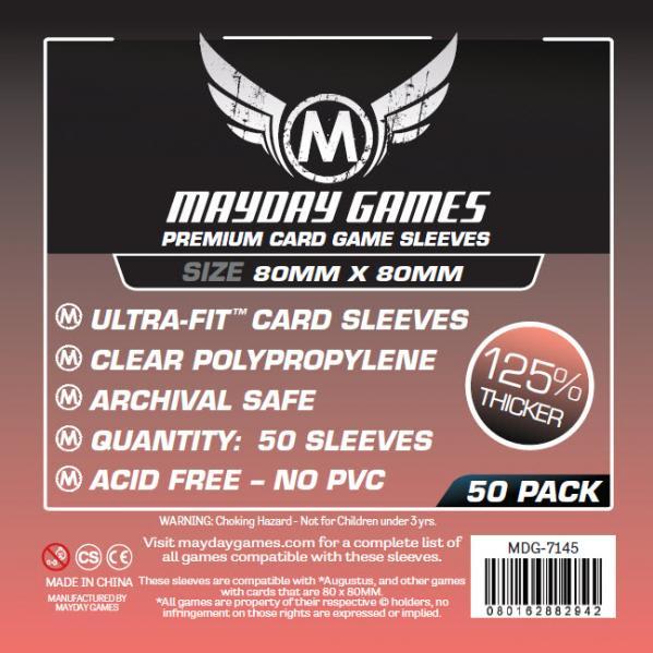 Premium Custom Card Sleeves: 80x80mm Medium Square (50 Pack)