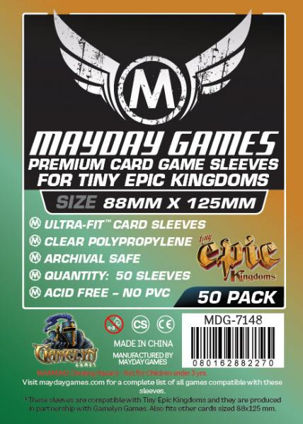 Premium Custom Card Sleeves: 88x125mm Tiny Epic Kingdoms (50 Pack)