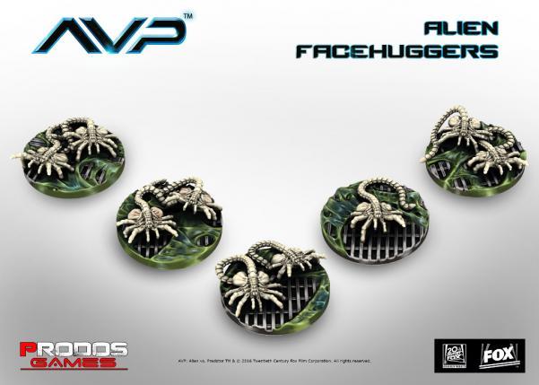 Alien vs Predator (AVP): Alien Facehuggers (5)