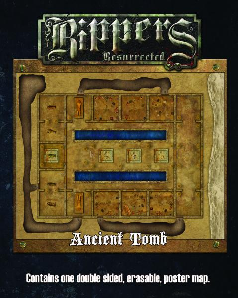 Savage Worlds RPG: Rippers Resurrected Map 2: Urban Alleys/Ancient Tombs