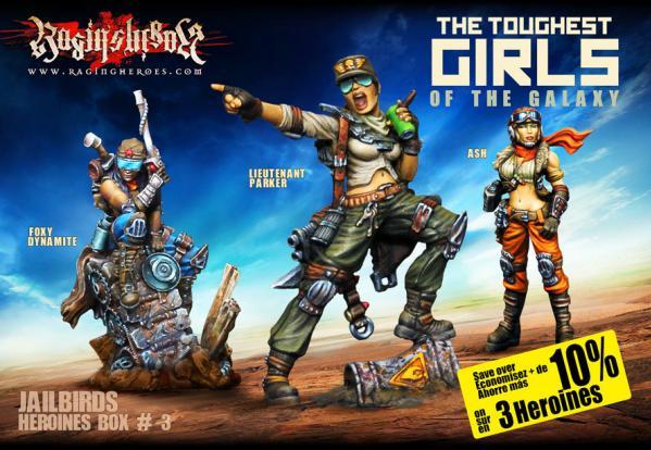 Raging Heroes: (Jailbirds) Character Heroines Box 3