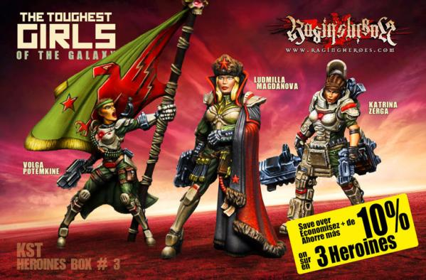 Raging Heroes: (Kurganova Shock Troops) Character Heroines Box 3