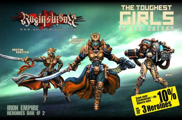 Raging Heroes: (Iron Empire) Character Heroines Box 2