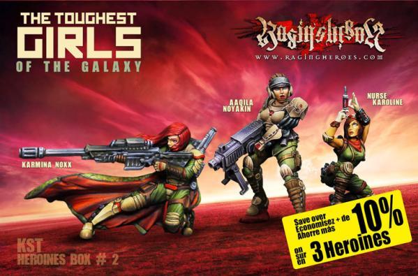 Raging Heroes: (Kurganova Shock Troops) Character Heroines Box 2
