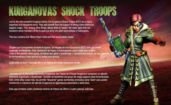 Raging Heroes: (Kurganova Shock Troops) Character Heroines Box 1