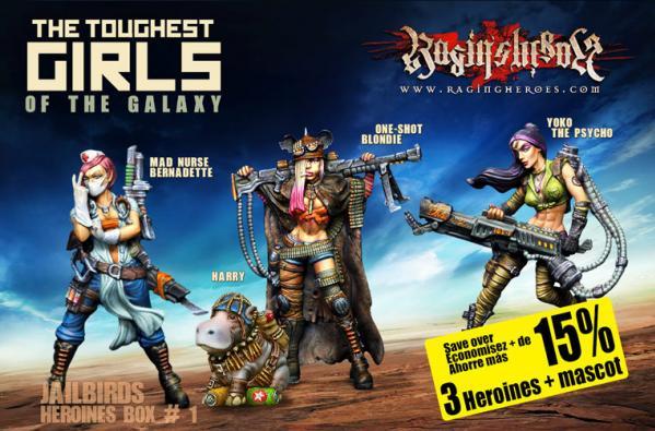 Raging Heroes: (Jailbirds) Character Heroines Box 1
