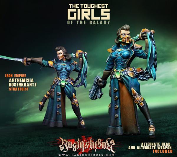 Raging Heroes: (Iron Empire) Arthemisia Rozenkrantz, Strategist