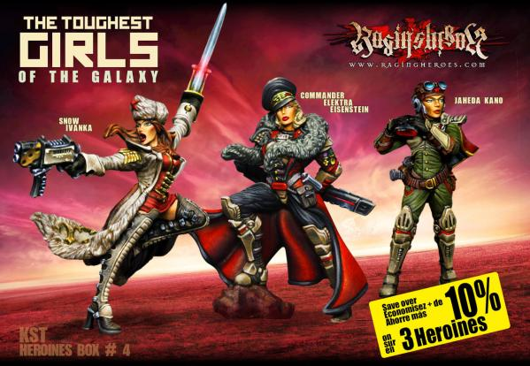 Raging Heroes: (Kurganova Shock Troops) Character Heroines Box 4